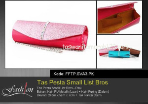 Tas Pesta Murah Small List Bros Pink