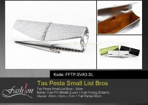 Tas Pesta Murah Small List Bros Silver