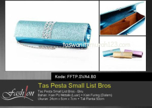 Tas Pesta Murah Small List Bros 2 Biru
