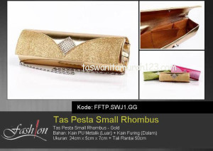 Tas Pesta Murah Small Rhombus Gold