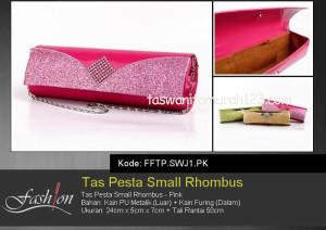 Tas Pesta Murah Small Rhombus Pink