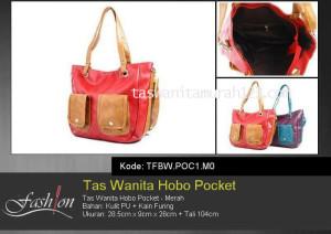 Tas Wanita Murah Hobo Pocket Merah
