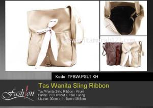 Tas Wanita Murah Sling Ribbon Khaki
