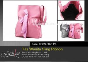 Tas Wanita Murah Sling Ribbon Pink
