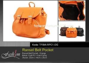 Tas Wanita Ransel Pocket Orange