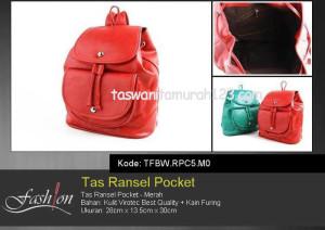 Tas Wanita Ransel 1 Pocket Merah