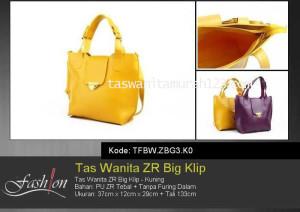 Tas Wanita Murah ZR Big Klip Kuning