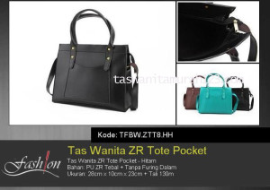 Tas Waita Murah ZR Tote Pocket Hitam