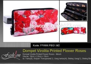 Dompet Wanita Murah Virolita Printed Flower M2