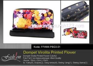 Dompet Wanita Murah Virolita Printed Flower 01