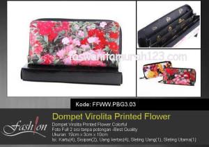 Dompet Wanita Murah Virolita Printed Flower 03