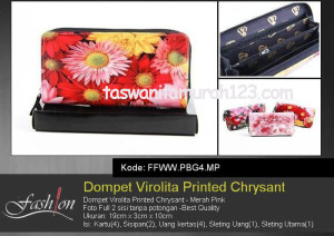 Dompet Wanita Murah Virolita Printed Flower MP