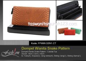 Dompet Wanita Murah Snake Pattern Coklta