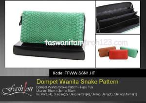 Dompet Wanita Murah Snake Pattern Toska