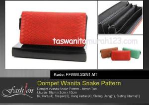 Dompet Wanita Murah Snake Pattern Merah