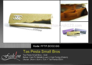 Tas Pesta Murah Small Bros SCO2 Gold