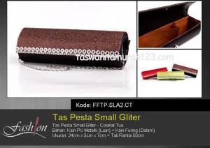 Tas Pesta Murah Small Gliter  SLA2 Coklat Tua