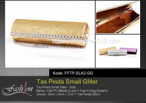 Tas Pesta Murah Small Gliter  SLA2 Gold