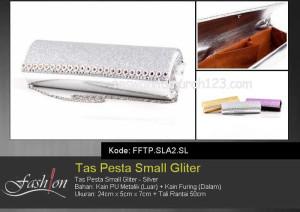 Tas Pesta Murah Small Gliter  SLA2 Silver