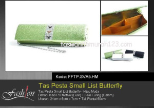 Tas Pesta Murah Small List Butterfly Hijau Muda