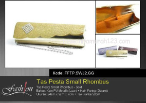 Tas Pesta Murah Small Rhombus SWJ2 Gold
