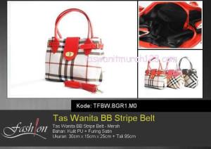 Tas Wanita Murah BB Stripe Belt Merah