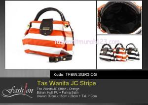 Tas Wanita Murah JC Stripe Orange