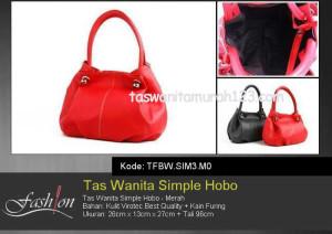 Tas Wanita Murah Simple Hobo Merah