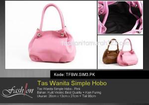 Tas Wanita Murah Simple Hobo Pink