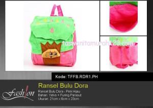 Tas Anak Ransel Bulu Karakter  Dora