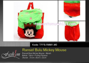 Tas Anak Ransel Bulu Karakter Micke Mouse