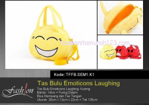 Tas Anak Bulu Emoticon Laughing