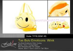 Tas Anak Bulu Emoticon Winky