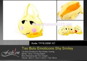 Tas Anak Bulu Emoticon Shy