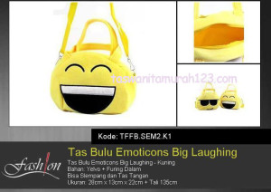Tas Anak Bulu Emoticon Big Laugh