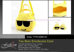 Tas Anak Bulu Emoticon Cool